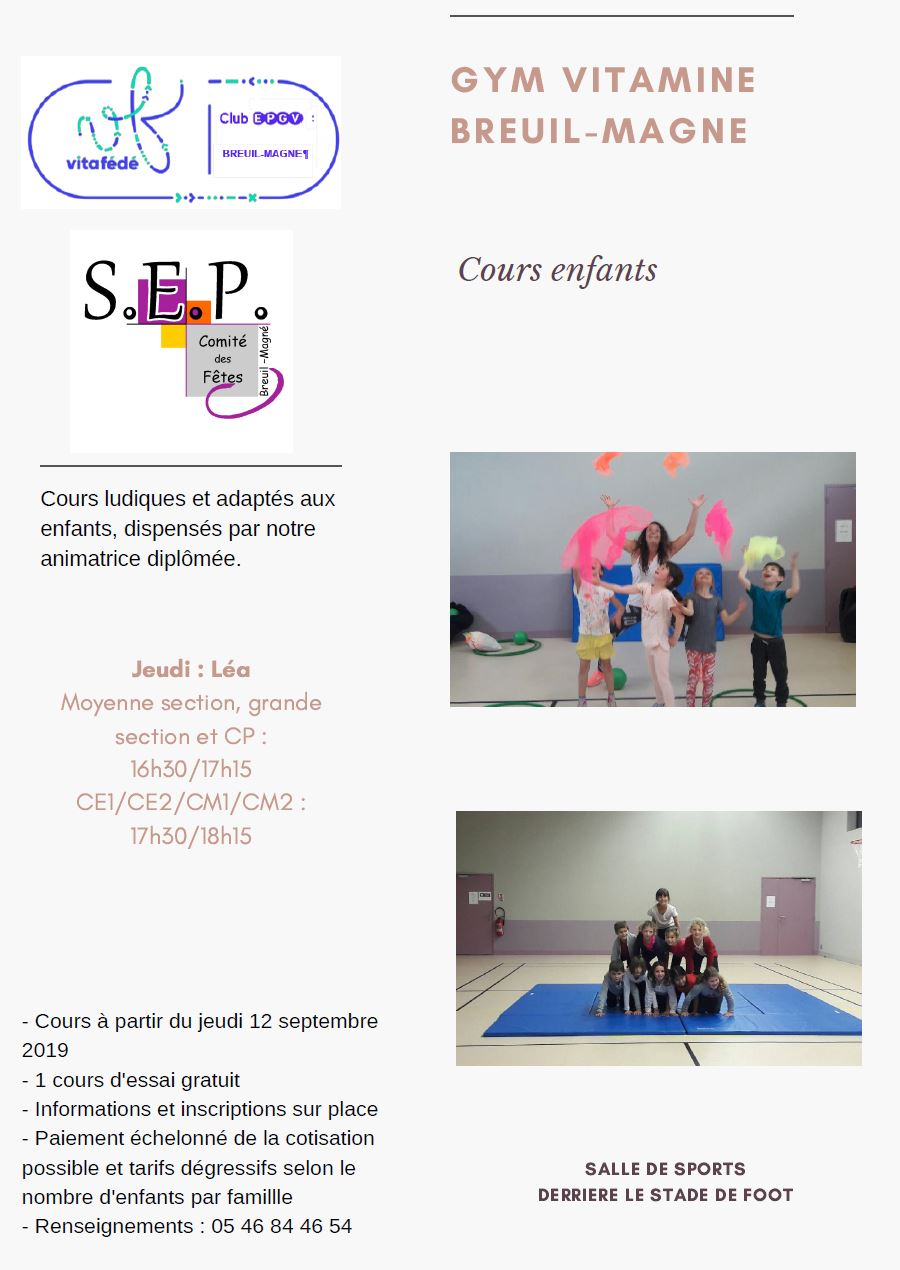gym enfants 2019